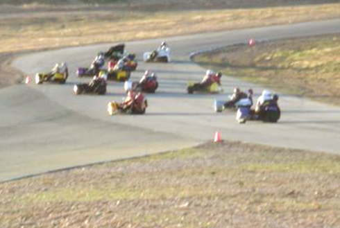 Wide shot of the race