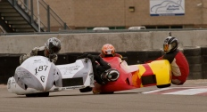 The battle for the lead was intense at Miller Motorsports Park's East Course September 2013. Photo: Jean Caestrini