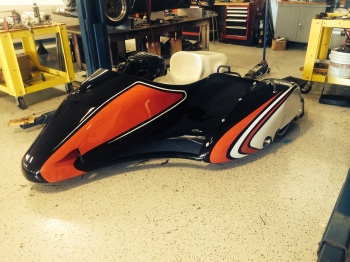 Shelbourne sidecar with 2006 GSX-R1000 engine, work by www.race-car-replicas.com