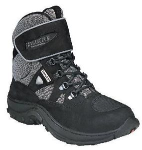 black and gray hiking boot