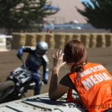 My trusty assistant Kate had actually never been to a flat track race before and had no real interest in motorsport. She just needed to get paddock shots so I didn't have to switch lenses. Flat track turned out to genuinely impress her.