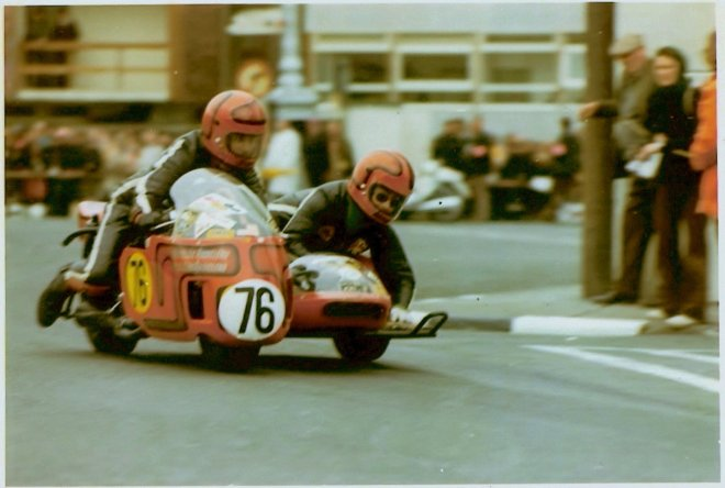 joe & Alma Isle of Man TT Sidecar