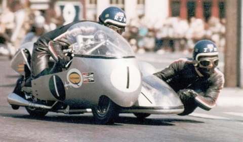 Dick Hawes Sidecar Isle of Man 1969 at Ramsey
