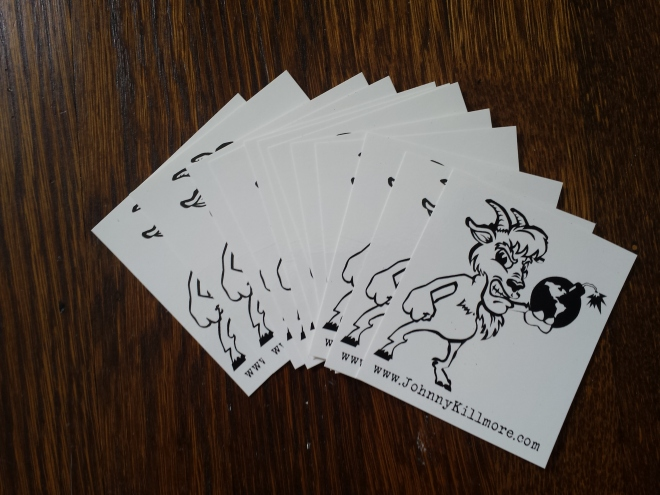 Johnny Killmore Vinyl Stickers