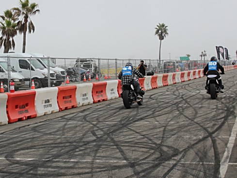 motorcylce drag racing with the BMW Salty Sprint races