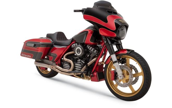 custom harley davidson bagger motorcycle