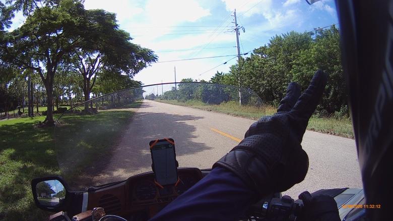 motorcycle on highway