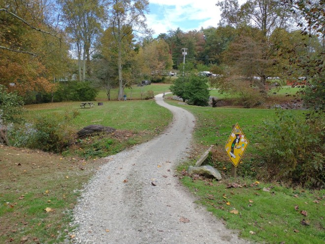 winding path and bridge dirt road